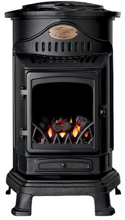 Portable Provence Living Flame Heater (Matt Black)