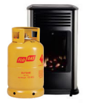 Portable Manhattan Living Flame Heater with Gas Cylinder