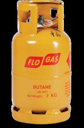 7kg Butane Gas Cylinder (21mm Clip on Regulator)